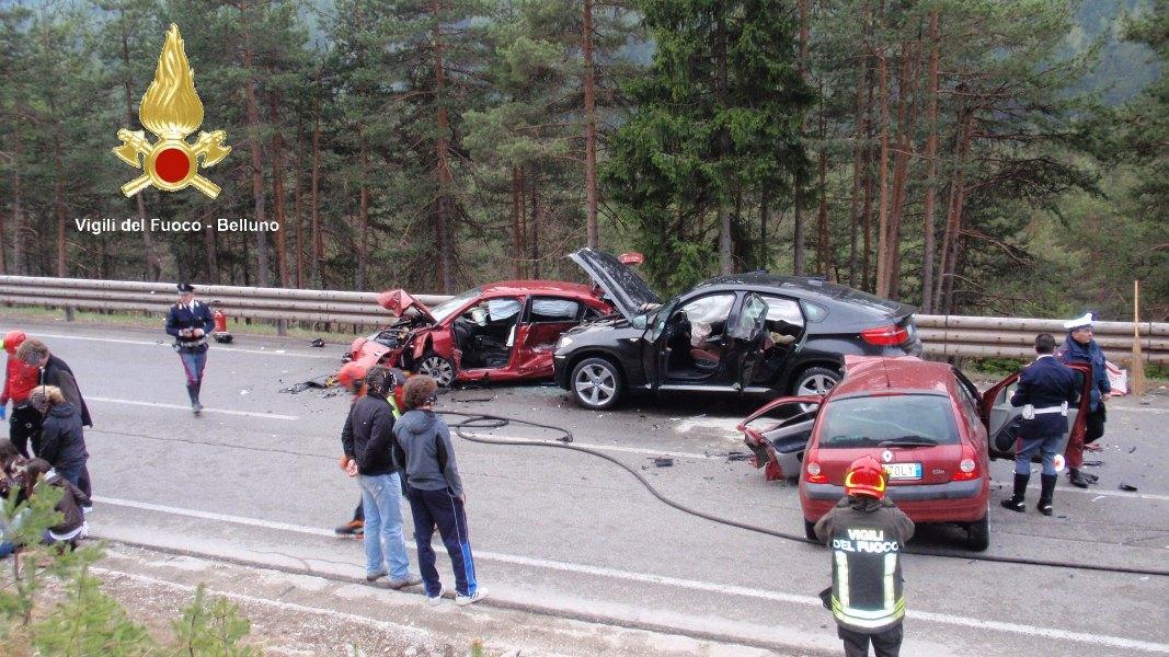 Incidente stradale a Cortina d'Ampezzo-località Acquabona