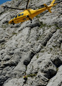 Cortina: intervento di soccorso al Lagazuoi.