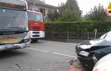 Incidente stradale a Mel.