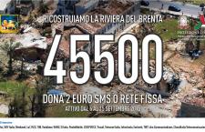 """Ricostruiamo la Riviera del Brenta – già attivo SMS solidale 45500 – Zaia: """"doniamo il più possibile""""-"""
