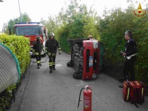 Belluno, incidente stradale a Cavarzano.