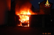 Arsiè: incendiati 5 box garage.