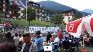 Auronzo: prima giornata di allenamenti per la Lazio – Audio