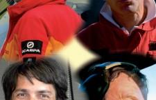 Le vittime dell'incidente: Dario De Felip (pilota Inaer), Fabrizio Spaziani (medico Suem 118 e coordinatore sanitari Cnsas), Marco Zago (tecnico aeronautico e tecnico Cnsas) e Stefano Da Forno (tecnico elisoccorso Cnsas)