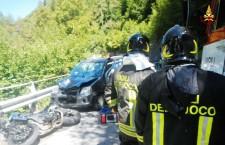 Giornata di fuoco per incidenti motociclistici in tutta la provincia.