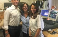 Il Magg. Leonardo Landi con le giornaliste Barbara Paolazzi e Katia Tafner.