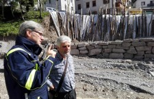 Sopralluogo alla frana di Lozzo di Cadore dell'assessore Bottacin nella foto con il sindaco Manfreda.