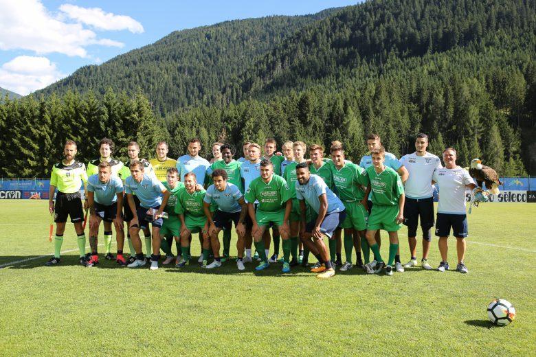 Amichevole di precampionato tra Lazio e il Top 11 di Radio Club 103 allo Stadio Zandegiacomo di Auronzo di Cadore.