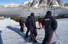 CORTINA: Giornata addestrativa in Faloria per i Carabinieri sciatori con M'Over.
