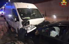 Incidente stradale in galleria a Caralte –