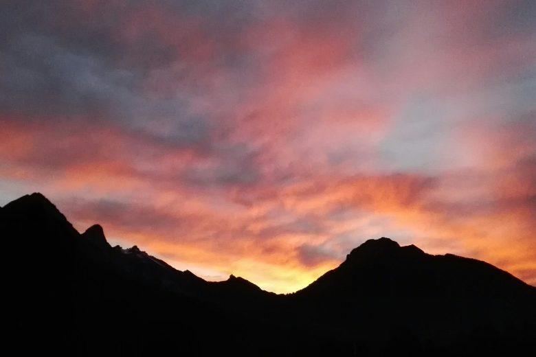 Tramonto sulle Dolomiti di Valle di Cadore (Bl)
