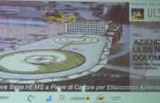 Il progetto della nuova base Hems Pieve di Cadore