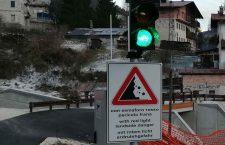 Rudan - Il semaforo sulla ciclabile