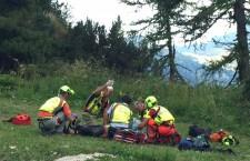 Arabba: grave ciclista trovato privo di sensi sulle piste sotto il Bec de Roces.