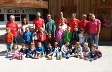 I bambini a lezione di sicurezza con il Soccorso Alpino.