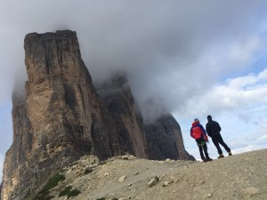 Recuperati alpinisti sulle Tre Cime di Lavaredo.