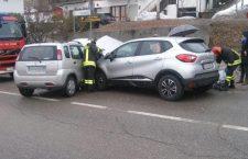 Incidente stradale a Domegge di Cadore.