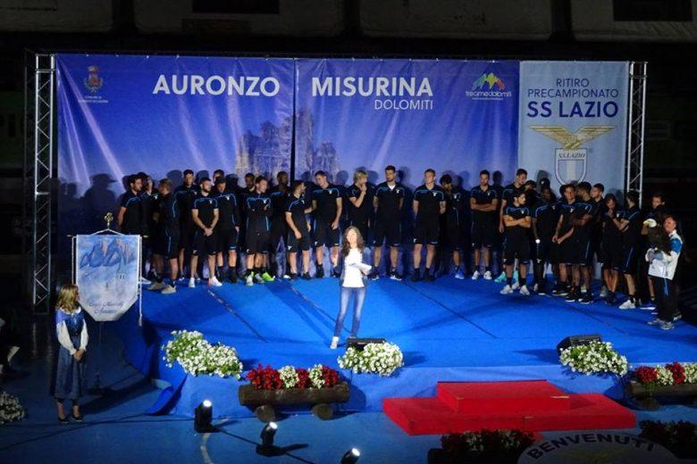 La presentazione della Lazio al Palaroller di Auronzo con Barbara Paolazzi