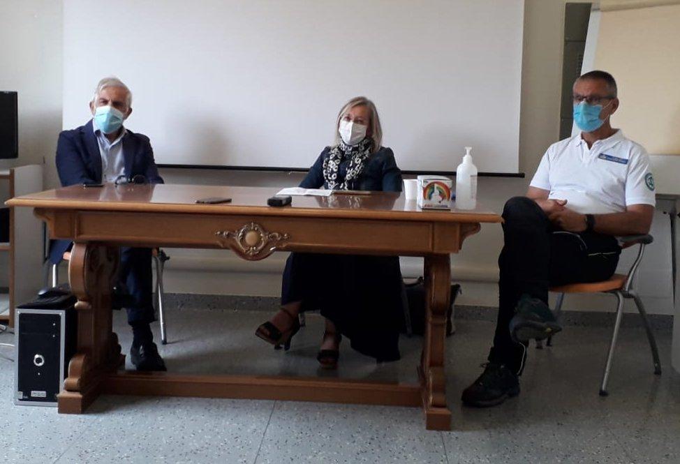 Visita del Direttore generale  Uls 1 Dolomiti Carraro al cantiere della base HEMS di Pieve di Cadore.