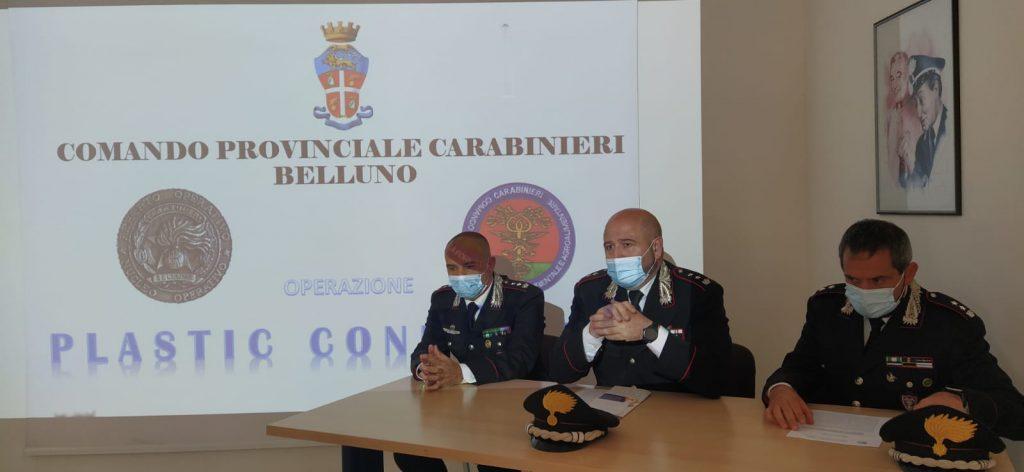 """Aggiornamento """"Plastic Connection"""": l'operazione dei Carabinieri per un traffico illecito di rifiuti tocca anche la  provincia di Belluno-Altri due arresti –"""